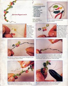 Passo à passo de uma tiara e de uma pulseira http://ftpormim.blogspot.com.br