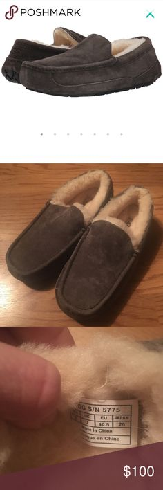 Ugg slipper in charcoal New without box ugg moccasin in dark grey. Can fit womens size 8-9 or men size 8 UGG Shoes