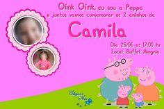 Convite Peppa Pig com foto