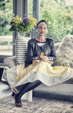 Jacquie Burger, owner and creator of Salon 58 & former editor of Elle South Africa. And she has fabulous style.