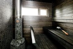 Housing Fair Sauna in Tiileri-koti house. Wash N Go, Beautiful Homes, Bathtub, Koti, Cottage, House, Saunas, Interior Ideas, Bathrooms