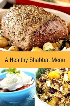 A healthy Shabbat Menu. All the recipes for a healthy Shabbat dinner.