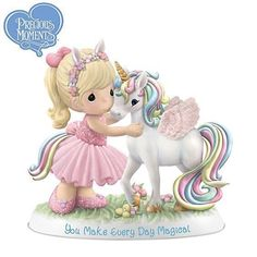Precious Moments You Make Every Day Magical Figurine - - Mana vietne Disney Precious Moments, Precious Moments Figurines, Precious Moments Coloring Pages, Biscuit, Collectible Figurines, Disney Figurines, My Precious, Clay Crafts, Cross Stitch