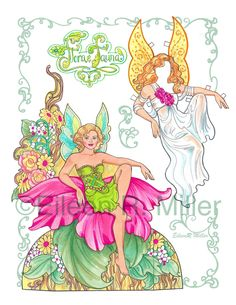 Flora and Fauna Fairy Paper Doll by PaperDollsbyERMiller on Etsy, $12.00