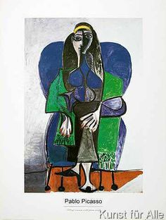 Pablo Picasso - Sitting woman with green scarf