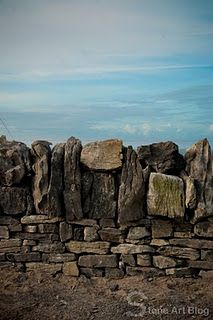 Drystone walls of  Inis Oírr (Inisheer) the smallest of the three islands that make up the Aran Islands in Galway Bay, Ireland.