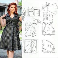 Dress Sewing Patterns, Blouse Patterns, Sewing Patterns Free, Clothing Patterns, Cute Dresses For Party, Dresses For Work, Sewing Blouses, Fashion Sewing, Moda Fashion