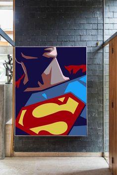 Pop Art Drawing, Art Drawings, Art Pop, Pop Art Decor, Comic Art, Superman Art, Canvas Painting Tutorials, Modern Pop Art, Canvas Art