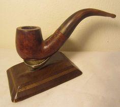 Vintage Bruyere Garantie Full Bent Estate Briar Tobacco Deer Horn Smoking Pipe