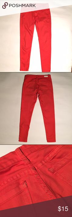 Blank NYC jeans! Blank Nyc denim in good condition. Has some wear on back (see image). Orange/red color. Almost a little orange/peach. Soft and stretchy material. Blank NYC Jeans Skinny