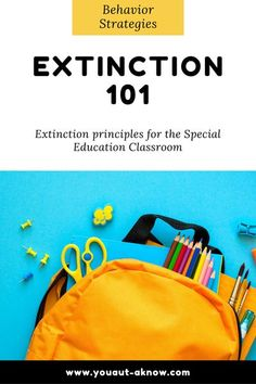 Using extinction as a behavior intervention in the Autism classroom is tricky business. Check this out to find out how to get started with extinction, when you should use extinction, and tips for making sure you're implementing extinction procedures well in your special education program. #specialeducation #aba #autismclassroom The New School, First Day Of School, Calendar Skills, Resource Room Teacher, Autism Classroom, Classroom Resources, Appropriate Behavior, Self Contained Classroom, Behavior Interventions