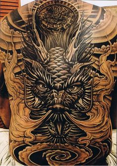Looking to get a full back tattoo design? Choosing a full back tattoo can be harder them most would think. Unlike other tattoos, full back tattoos take up much of the back, which is the largest area on your body to. Tatuajes Tattoos, Kunst Tattoos, Body Art Tattoos, Face Tattoos, Tatoos, Full Back Tattoos, Great Tattoos, Trendy Tattoos, Ta Moko Tattoo
