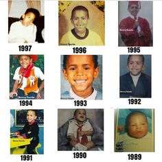 Chris Brown over the years.