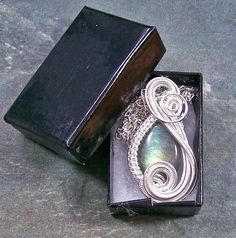 Labradorite Mini Swish Pendant 2 metals by HeatherJordanJewelry, $29.99