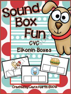 Sound Box Fun-CVC Elkonin Boxes from PeaceLoveandFirstGrade on TeachersNotebook.com (211 pages)  - Sound Boxes help your students build phonological awareness as they blend and segment sounds and syllables, sequence letters in words, match letter sounds to letter symbols and more! Sound Boxes are perfect for small groups and RTI.