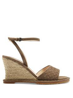 Intrecciato suede espadrille wedge sandals | Bottega Veneta | MATCHESFASHION.COM