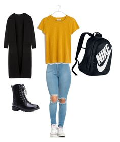 """""""School x6"""" by malina-dobrescu ❤ liked on Polyvore featuring Theory, Madewell and NIKE"""