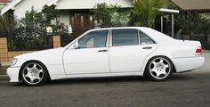 W140 White With R19 Wheels. Check out for more on: http://dailybulletsblog.com/mercedes-benz-w140-compilation-part-i/ #MercedesBenz #W140 #Cars