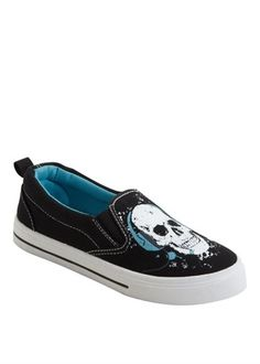 Boys Skull Print Pumps