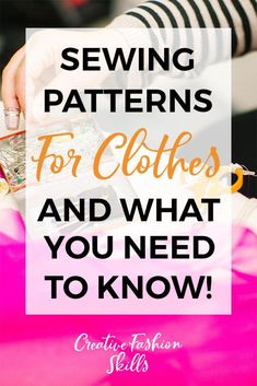 When it comes to choosing sewing patterns for clothes, you need to consider several things. Click to read this post and learn what you should be thinking about when you look at buying a sewing pattern! #sewing #sewingpatterns #sewingprojects #DIYclothes Beginner Sewing Patterns, Modern Sewing Patterns, Sewing Projects For Beginners, Pattern Sewing, Sewing Basics, Clothing Patterns, Sewing Tutorials, Sewing Hacks, Pdf Patterns