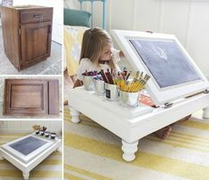 kitchen-cabinet-into-a-child-s-desk-diy-painted-furniture-repurposing-upcycling