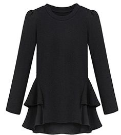 ouxiuli Womens Spring New fashion Irregular Tshirt Black XXL * Want to know more, click on the image.