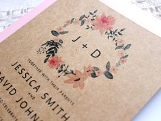 Barn Wedding Invitation Rustic Wedding by PaperBoundLove on Etsy