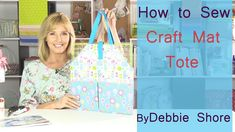 A craft mat  bag for you to sew by Debbie Shore