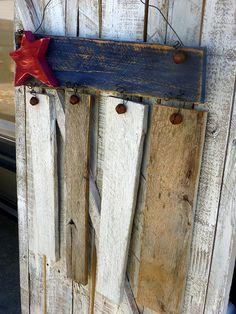 Reclaimed Wood Americana Flag Door/Wall Hanger by SoPurdyCreations, $30.00