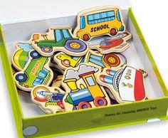 Sada magnetických dopravních prostředků všeho druhu, se kterou si vyhraje každý kluk. Sada obsahuje celkem 20 kousků.