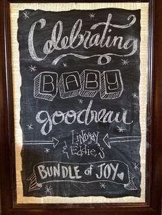 Chalkboard art for a baby shower    Gender-Neutral Safari Baby Shower