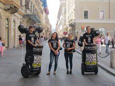 Street communication e Segway per l'apertura dello store Piazza Italia in via del corso Roma settembre 2013