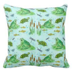 Arte de la libélula de las tortugas del Goldfish Almohadas