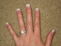 White French Tip Nail Designs | Glitter French Tip Acrylic Nails - Nail Art photos