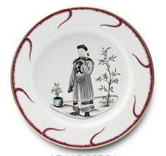 "Alberto Pinto Chinoiserie Buffet Plate #3 11.5"" - Alberto Pinto - Shop by Designer"