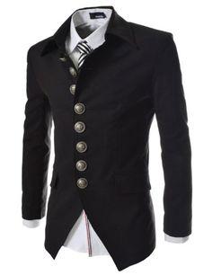 TheLees Mens Casual Slim 8 Button Jacket Blazer Black Large(US Medium) TheLees,http://www.amazon.com/dp/B00CBQ4O08/ref=cm_sw_r_pi_dp_OMwjtb1TYPJK3B7G