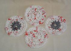 Plarn Crocheted Plastic Bag Coasters - FREE CROCHET PATTERN