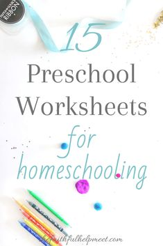 15 Free Preschool Printables for Homeschooling - The Faithful Help Meet Free Preschool, Preschool Printables, Preschool Worksheets, Preschool Learning, Preschool Activities, Teaching Kids, Curriculum Planning, Pre Writing, Kids Writing