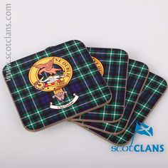 Clan Graham Coaster Set. Free worldwide shipping available