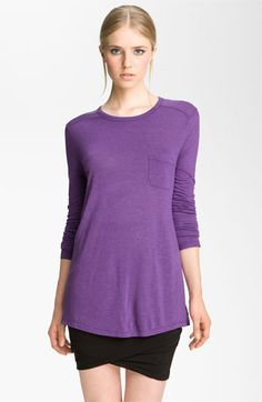 T by Alexander Wang Long Sleeve Pocket Tee available at #Nordstrom