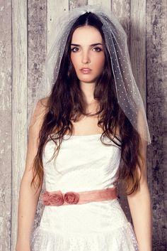 Polka dots Veil Wedding Dress  Tupfen Tülle Brautkleid Hochzeit Brautmode Schleier