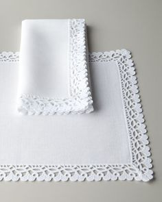 """Ricamo+68""""+x+126""""+Oblong+Tablecloth+by+Matouk+at+Neiman+Marcus."""
