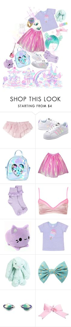 """""""milky planet"""" by aurenfaie ❤ liked on Polyvore featuring adidas Originals, Sugarbaby, Boohoo, Topshop, Sretsis, Jellycat and Charlotte Russe"""