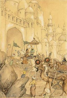 """The Art of Anton Pieck. """"1001 Arabian Nights"""" ~ Blog of an Art Admirer"""