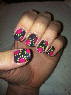 DIY Nail Art.  Dots.  This was my own design :)