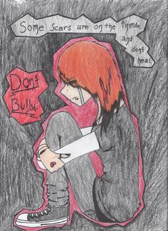 anti-bullying poster by on DeviantArt Stop Bullying Posters, Cyber Bullying Poster, Stop Bullying Quotes, Stop Cyber Bullying, Anti Bullying, Bullying Activities, Cyber Safety, Poster Drawing, Art Journal Techniques