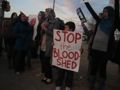 """Stop the Blood Shed"" (Photo: Eli Bell)"