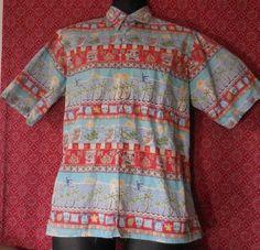 Disney Mickey Mouse Hawaiian Shirt by Reyn Spooner Mens Size S, Made in HI, USA #ReynSpooner #Hawaiian