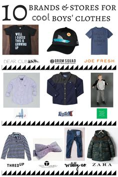 10 Places and Brands to Find Cool Clothes for Boys