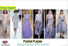 Pastel Purple #Fashion Trend for Spring Summer 2014 #hc #Color #Pastels